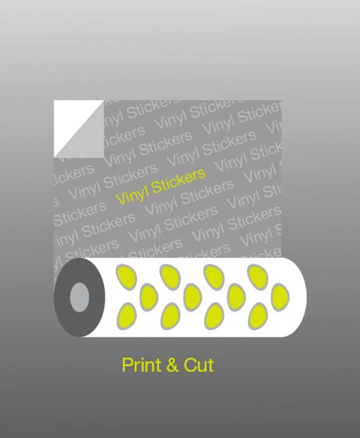 αυτοκόλλητο βινύλιο με εκτύπωση και περιμετρική κοπή