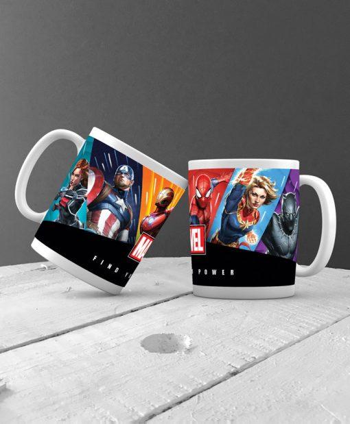 κούπα με τους ήρωες της Marvel